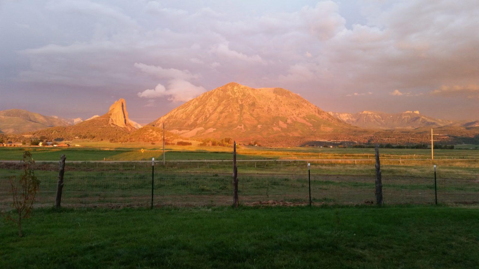 sunset on needle rock
